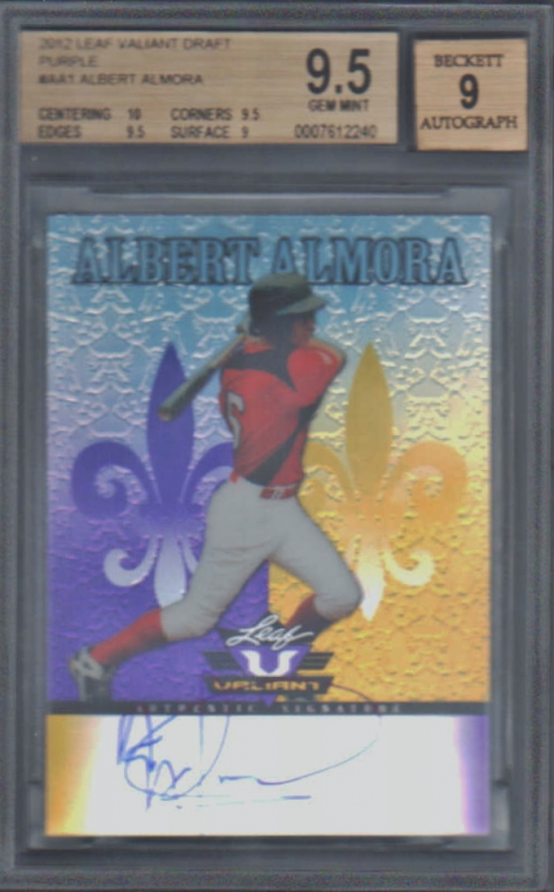 2012 Leaf Valiant Draft Purple #AA1 Albert Almora