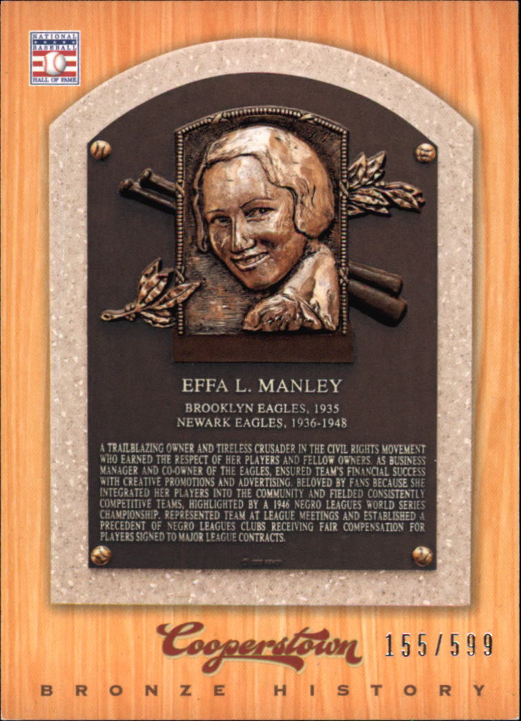 2012 Panini Cooperstown Bronze History #57 Effa Manley