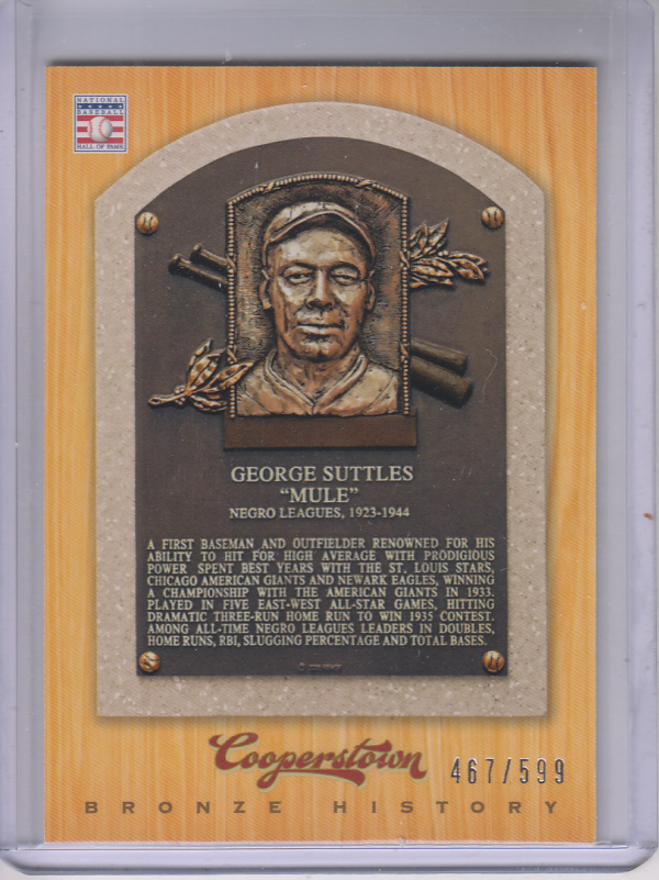 2012 Panini Cooperstown Bronze History #93 Mule Suttles