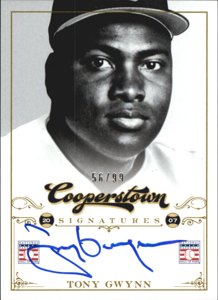 2012 Panini Cooperstown Signatures #15 Tony Gwynn/99