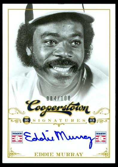 2012 Panini Cooperstown Signatures #34 Eddie Murray/100