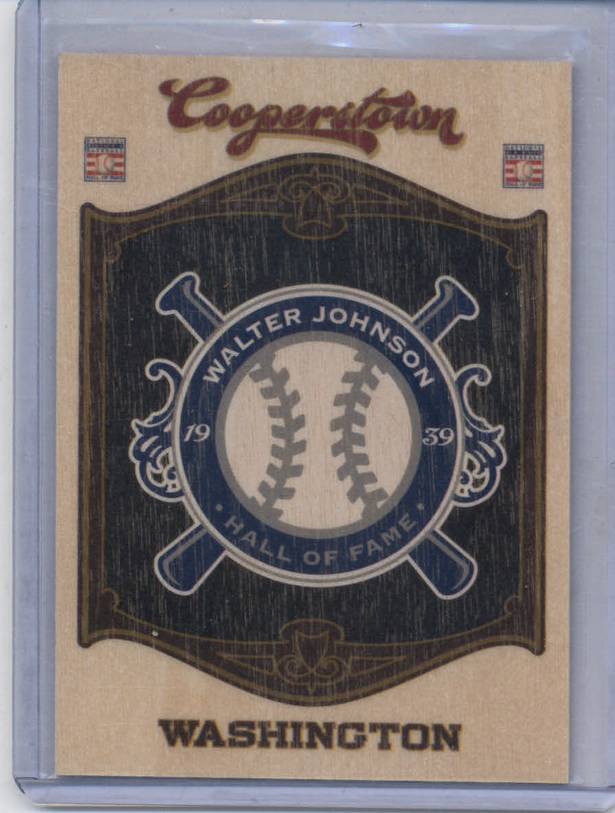 2012 Panini Cooperstown HOF Classes Team #26 Walter Johnson