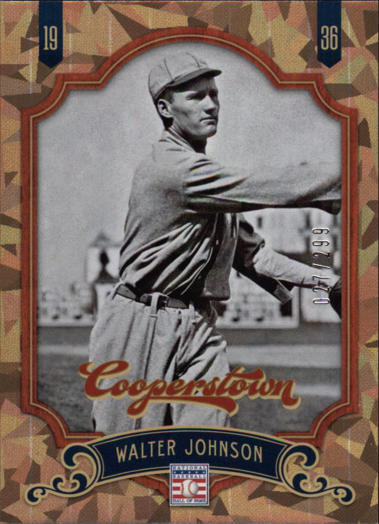 2012 Panini Cooperstown Crystal Collection #2 Walter Johnson