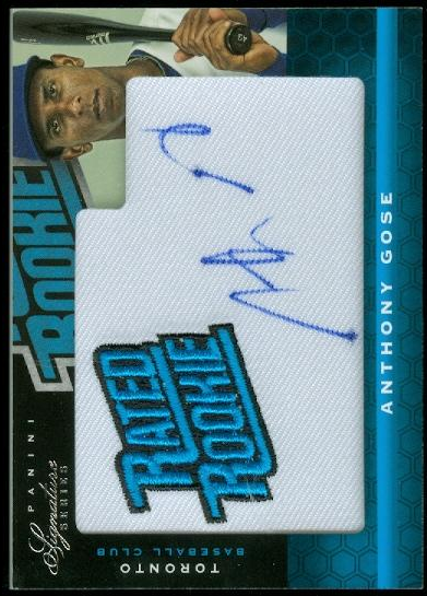 2012 Panini Signature Series #153 Anthony Gose AU/99 RC