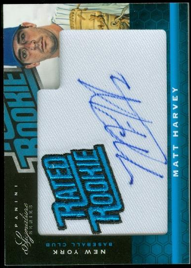 2012 Panini Signature Series #166 Matt Harvey AU/99 RC