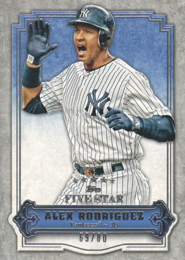 2012 Topps Five Star #15 Alex Rodriguez