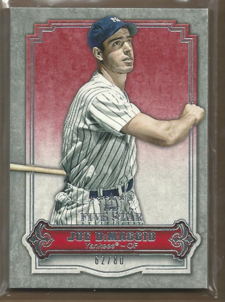 2012 Topps Five Star #28 Joe DiMaggio