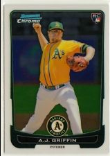 2012 Bowman Chrome Draft #3 A.J. Griffin RC
