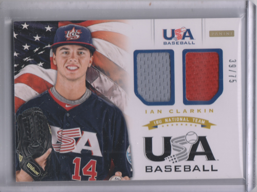 2012 USA Baseball 18U National Team Dual Jersey #6 Ian Clarkin