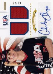 2012 USA Baseball 18U National Team Dual Jerseys Signatures #2 Christian Arroyo