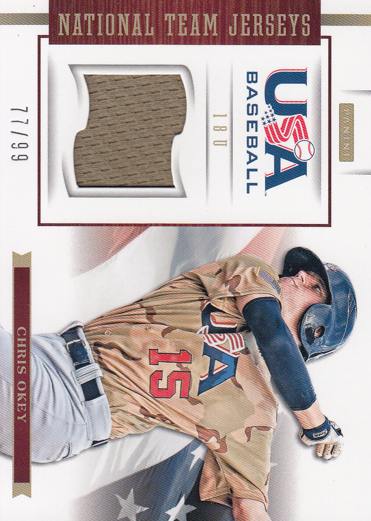 2012 USA Baseball 18U National Team Jerseys #14 Chris Okey