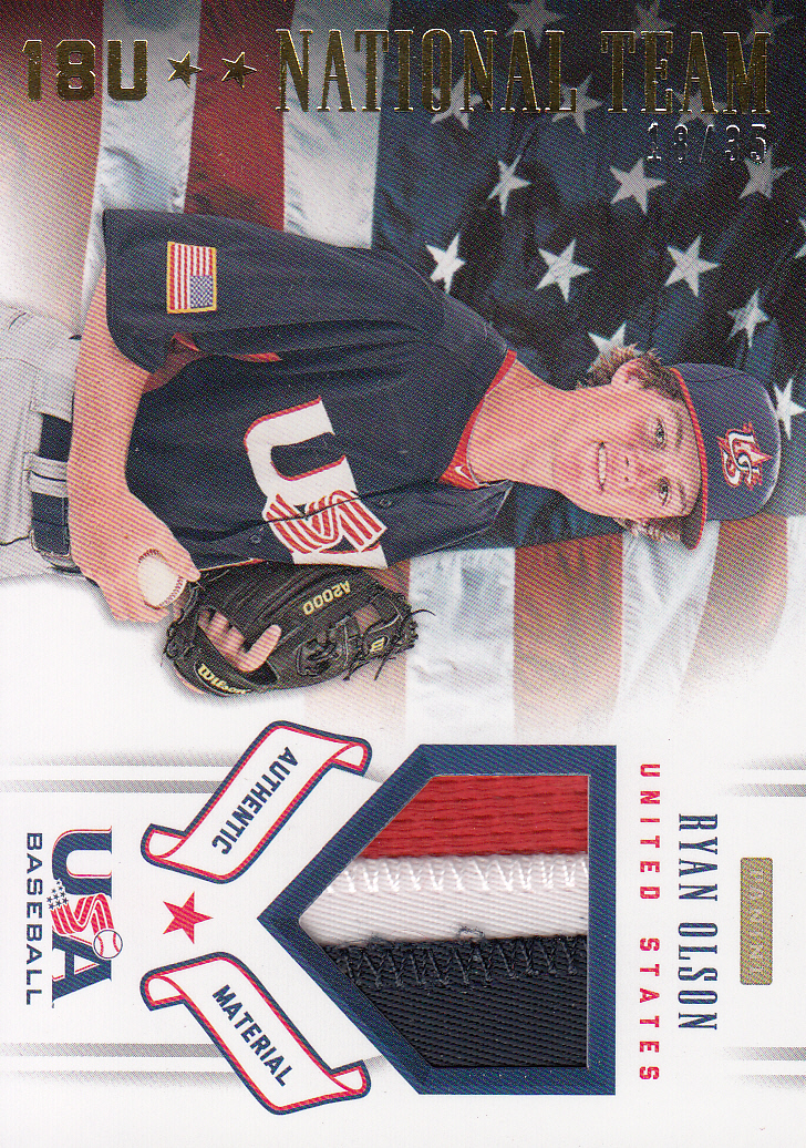 2012 USA Baseball 18U National Team Patches #15 Ryan Olson