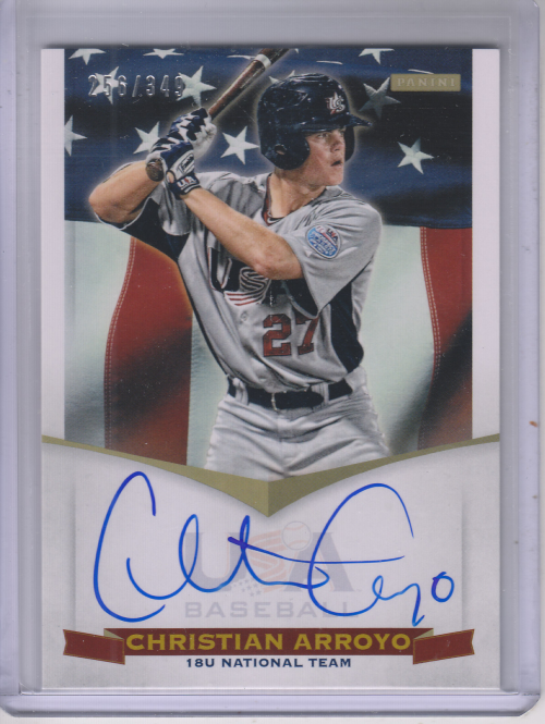 2012 USA Baseball 18U National Team Signatures #2 Christian Arroyo
