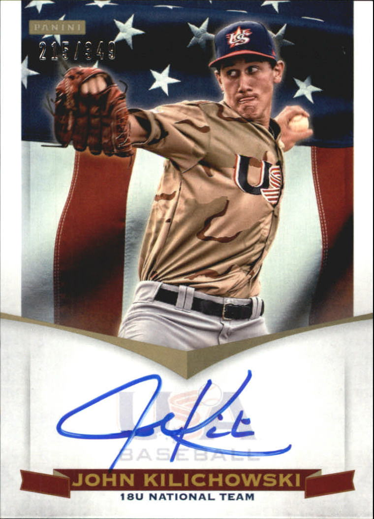 2012 USA Baseball 18U National Team Signatures #9 John Kilichowski