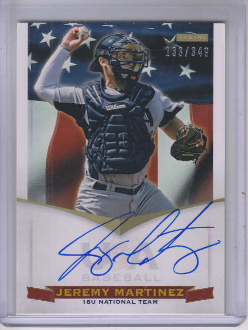 2012 USA Baseball 18U National Team Signatures #11 Jeremy Martinez
