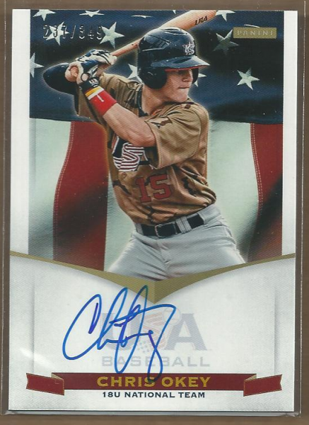 2012 USA Baseball 18U National Team Signatures #15 Chris Okey