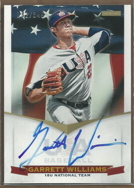 2012 USA Baseball 18U National Team Signatures #20 Garrett Williams