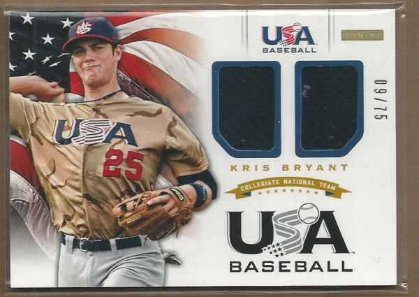 2012 USA Baseball Collegiate National Team Dual Jerseys #2 Kris Bryant