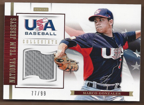 2012 USA Baseball Collegiate National Team Jerseys #10 Marco Gonzales