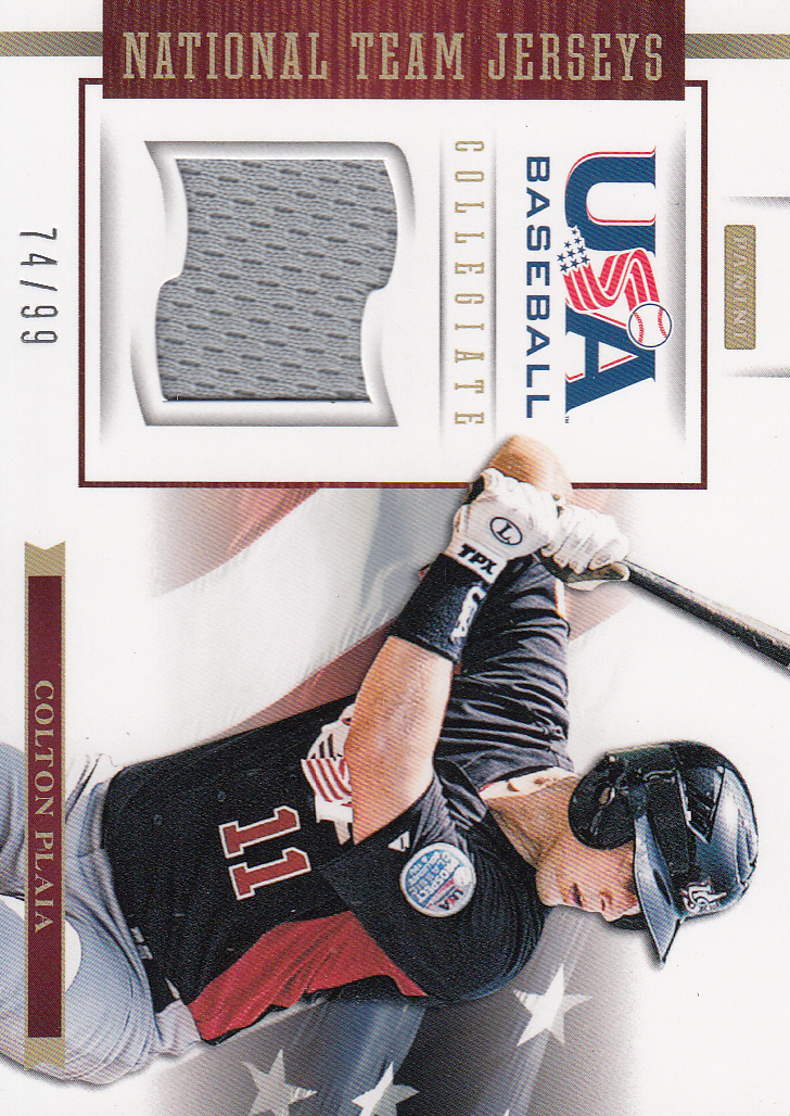 2012 USA Baseball Collegiate National Team Jerseys #15 Colton Plaia