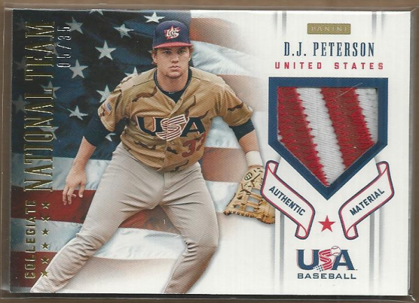 2012 USA Baseball Collegiate National Team Patches #14 D.J. Peterson