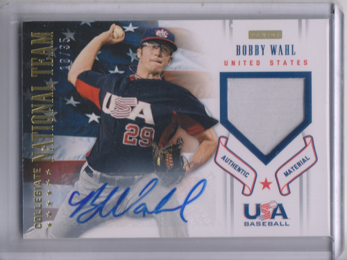 2012 USA Baseball Collegiate National Team Patches Signatures #22 Bobby Wahl