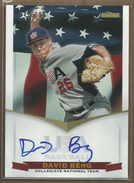 2012 USA Baseball Collegiate National Team Signatures #1 David Berg