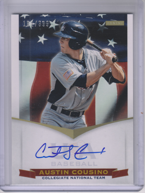 2012 USA Baseball Collegiate National Team Signatures #5 Austin Cousino