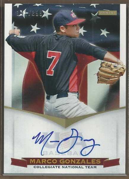 2012 USA Baseball Collegiate National Team Signatures #10 Marco Gonzales