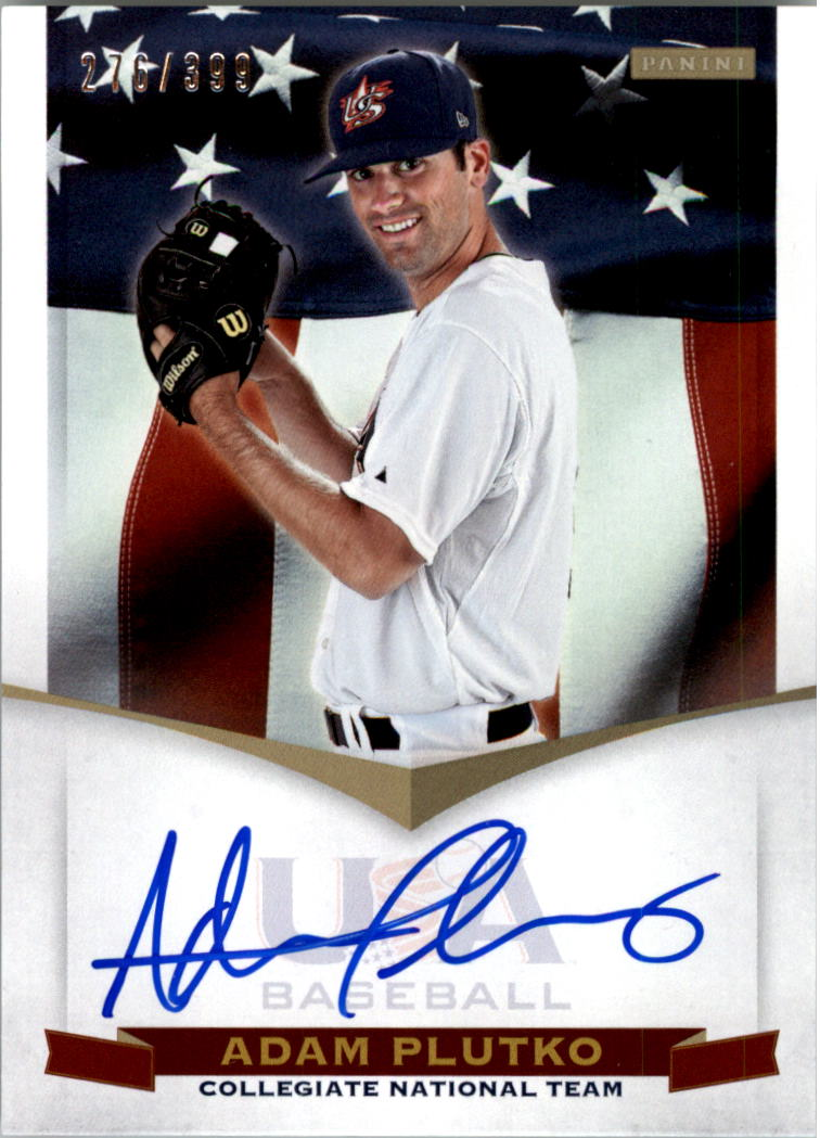 2012 USA Baseball Collegiate National Team Signatures #16 Adam Plutko