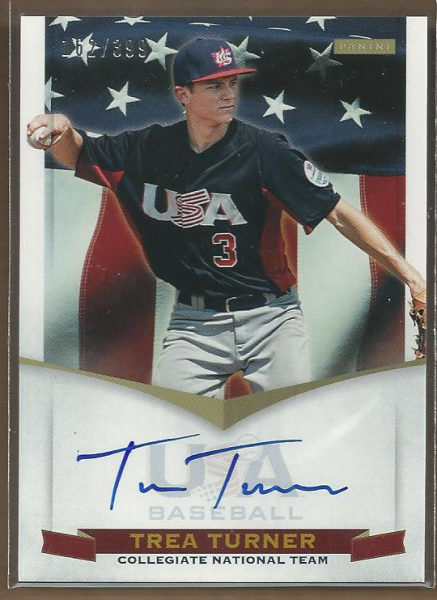 2012 USA Baseball Collegiate National Team Signatures #20 Trea Turner