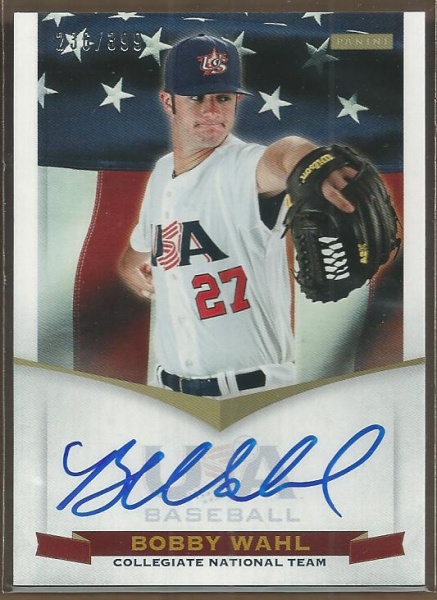 2012 USA Baseball Collegiate National Team Signatures #21 Bobby Wahl