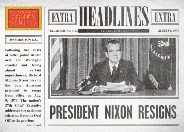 2012 Panini Golden Age Headlines #12 Richard Nixon
