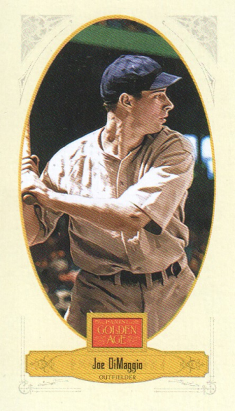 2012 Panini Golden Age Mini Broadleaf Brown Ink #42 Joe DiMaggio