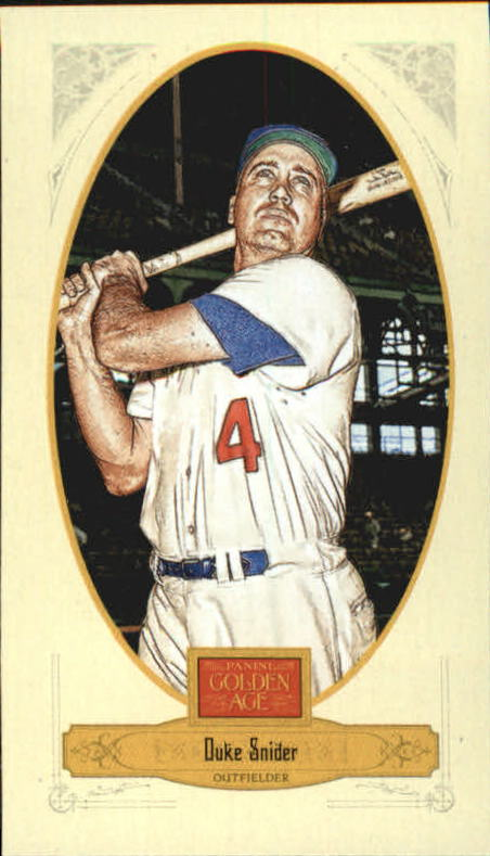 2012 Panini Golden Age Mini Crofts Candy Red Ink #68 Duke Snider