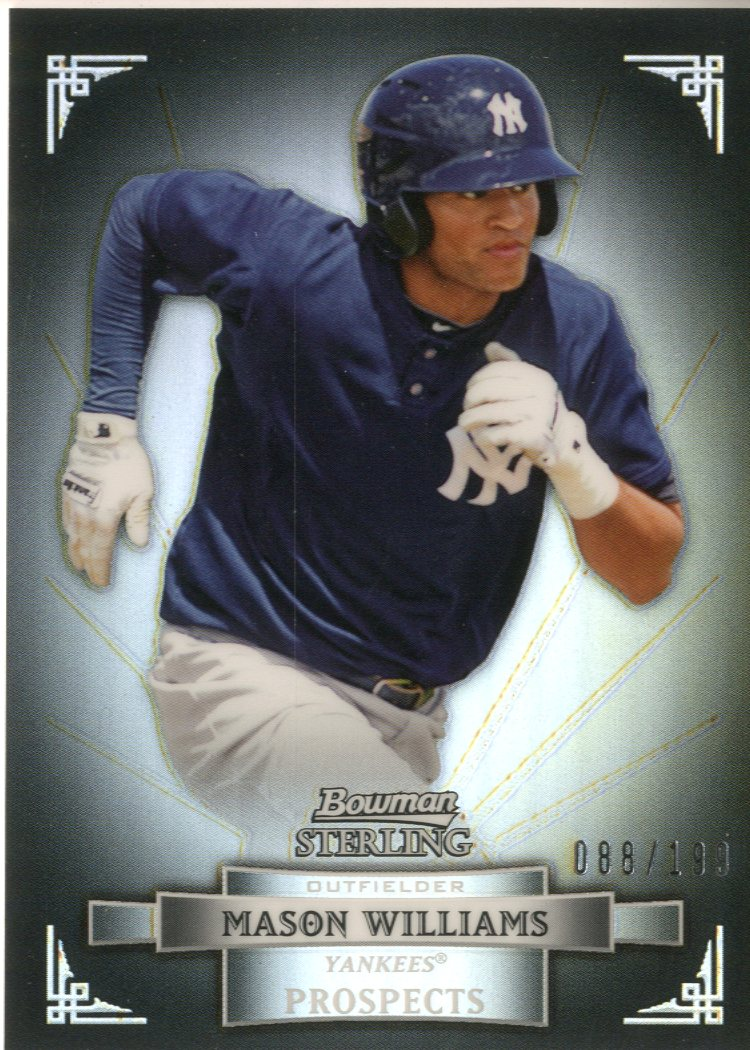 2012 Bowman Sterling Prospects Refractors #BSP48 Mason Williams
