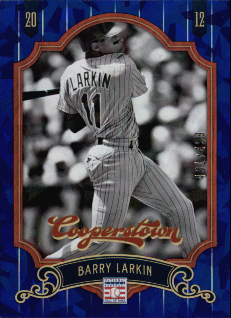 2012 Panini Cooperstown Crystal Collection Blue #23 Barry Larkin