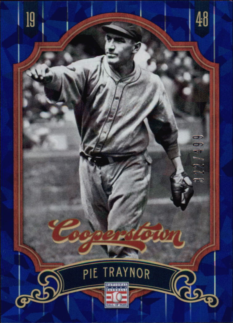 2012 Panini Cooperstown Crystal Collection Blue #48 Pie Traynor