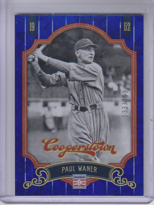 2012 Panini Cooperstown Crystal Collection Blue #52 Paul Waner