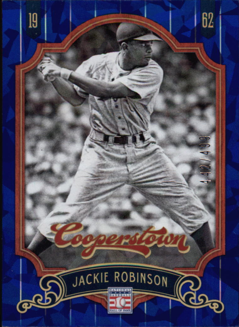 2012 Panini Cooperstown Crystal Collection Blue #72 Jackie Robinson