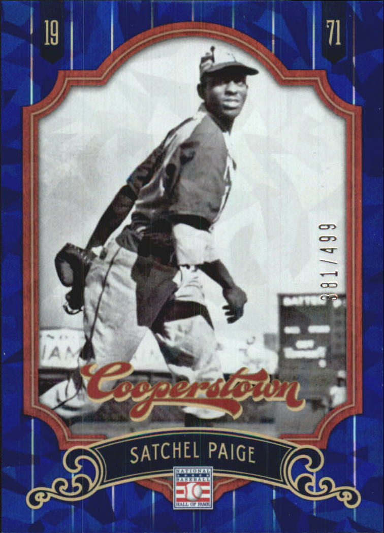 2012 Panini Cooperstown Crystal Collection Blue #75 Satchel Paige