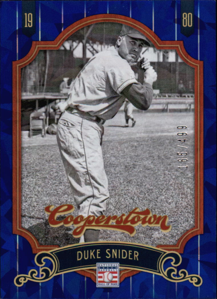 2012 Panini Cooperstown Crystal Collection Blue #85 Duke Snider