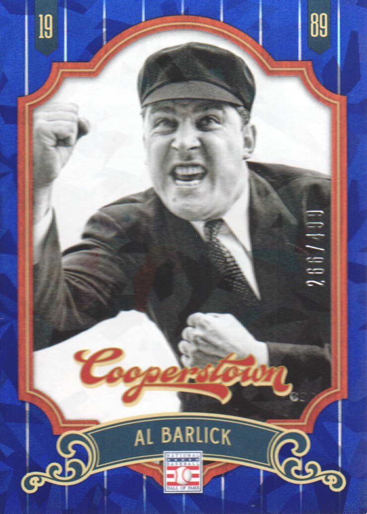 2012 Panini Cooperstown Crystal Collection Blue #97 Al Barlick