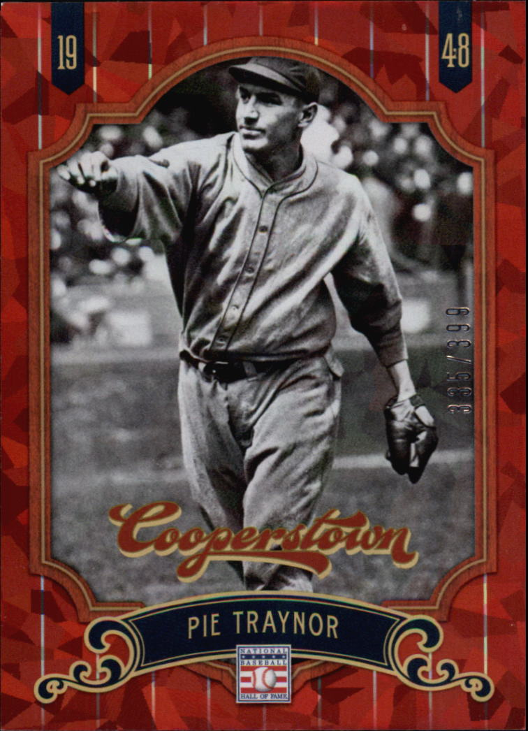 2012 Panini Cooperstown Crystal Collection Red #48 Pie Traynor