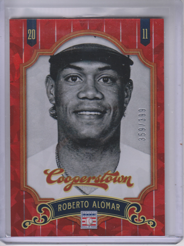 2012 Panini Cooperstown Crystal Collection Red #56 Roberto Alomar
