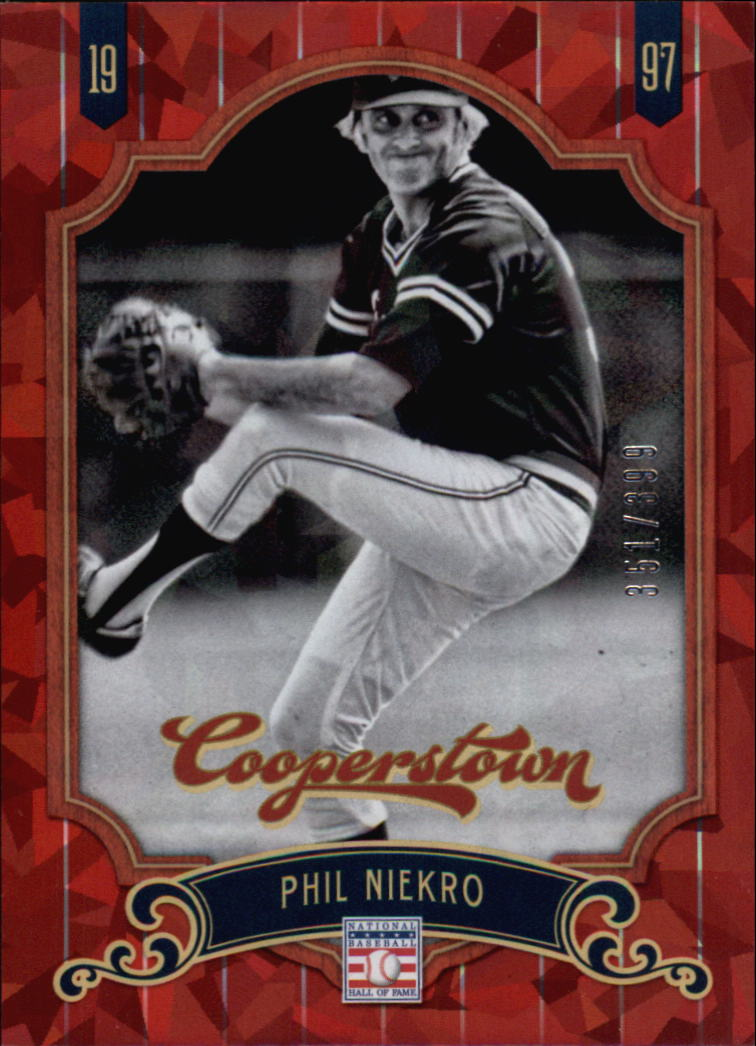 2012 Panini Cooperstown Crystal Collection Red #57 Phil Niekro