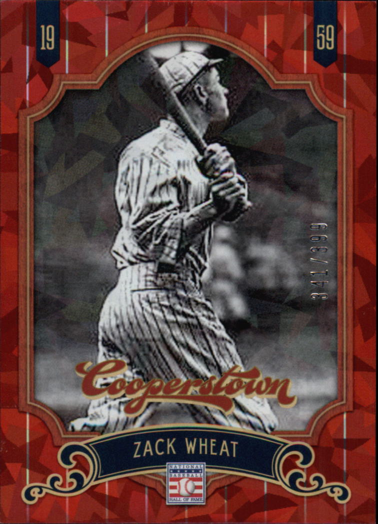 2012 Panini Cooperstown Crystal Collection Red #65 Zack Wheat