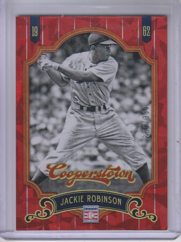 2012 Panini Cooperstown Crystal Collection Red #72 Jackie Robinson