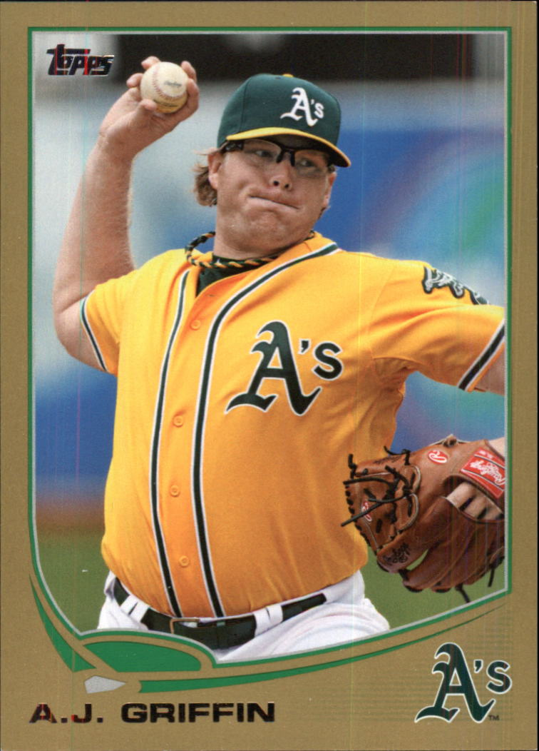 2013 Topps Gold #370 A.J. Griffin