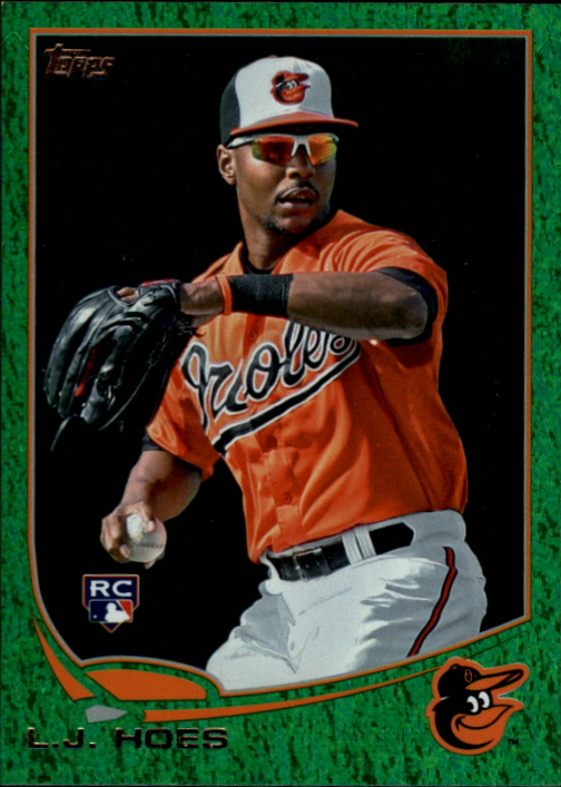 2013 Topps Emerald #148 L.J. Hoes